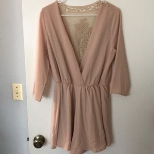 Cream blush romper